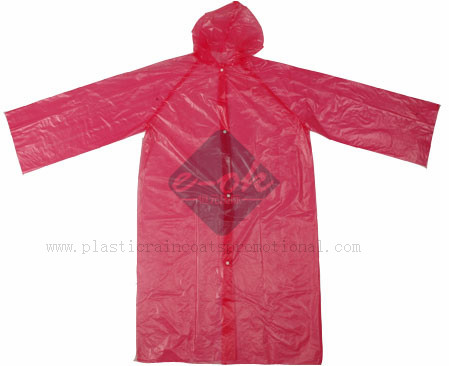 plastic emergency raincoat pe disposable plastic raincoat red