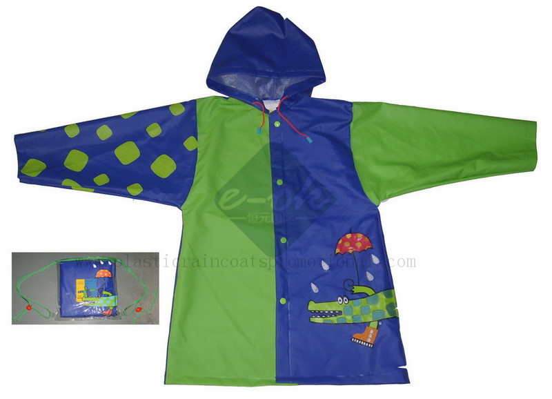 pvc child raincoat
